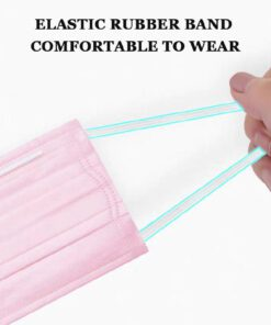 Mascarilla higiénica color liso rosa