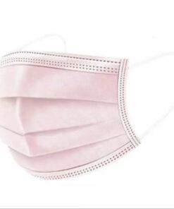 Mascarilla para niños color liso rosa